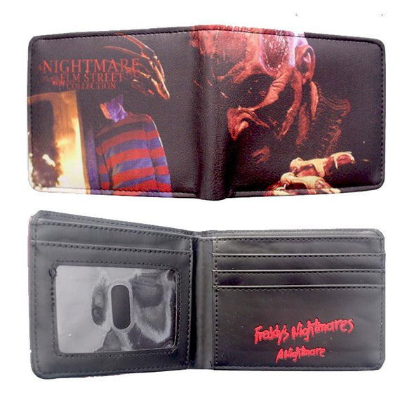 Nightmare On Elm St Horror Movie PU Leather Bifold Wallet