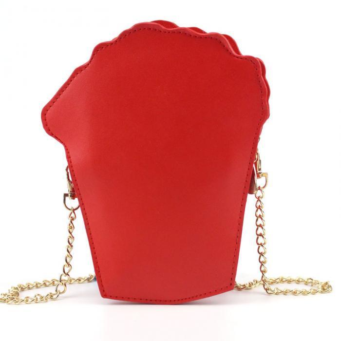 Popcorn Bag / Clutch With Removable Chain Shoulder Handbags Popcorn