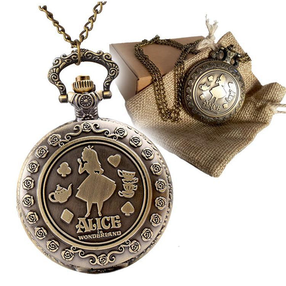 Alice In Wonderland Pocket Watch Set - Undead Inc Pocket Watch,