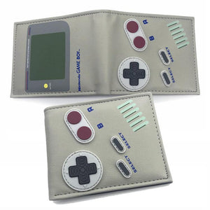Nintendo Game Boy With Buttons PU Leather Bifold Wallet