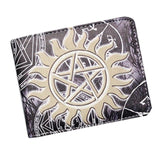 Supernatural Tattoo Symbol PU Leather Bifold Wallet