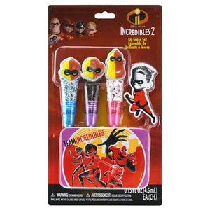 The Incredibles Disney Lip Gloss Tin Cosmetic Set