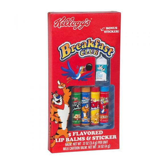 Kellogg's Breakfast Club Cereal Box Lip Balm Set Of 5