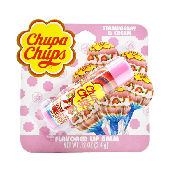 Chupa Chups Strawberry & Cream Candy Flavoured Lip Balm - Undead Inc Lip Balm,