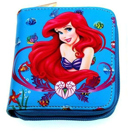 Disney Princess Ariel Blue PU Leather Wallet - Undead Inc Wallet,