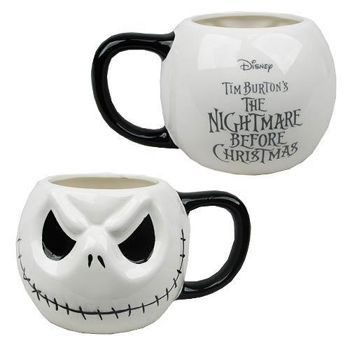 Nightmare Before Christmas Jack Skellington Head Special 20 Yrs Mug