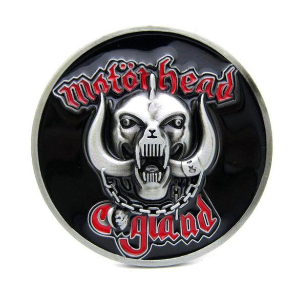 Motorhead Round War Pig Belt Buckle