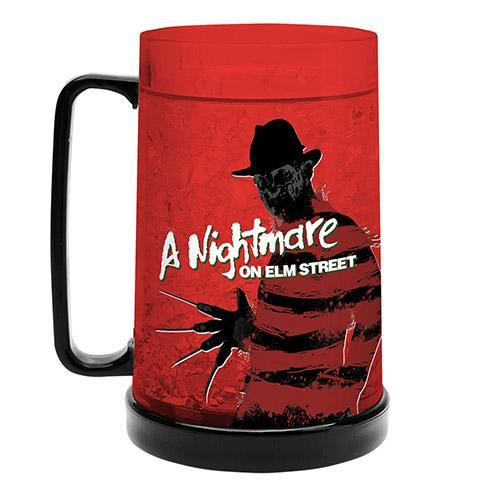 Freddy Kruger Nightmare On Elm St  Freeze Cooler Drinking Stein Mug