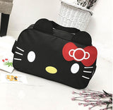 Hello Kitty BLACK Travel Weekender / Overnight Bag With Shoulder Strap
