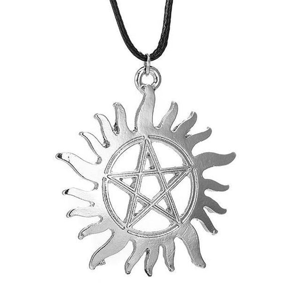Supernatural Protection Pentagram Tattoo Necklace