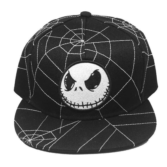 Nightmare Before Christmas Jack Skellington Spider Web Cap Hat
