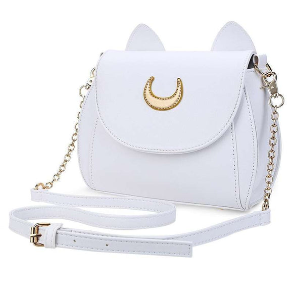 Sailor Moon White Cat PU Leather Shoulder / Cross Body Bag