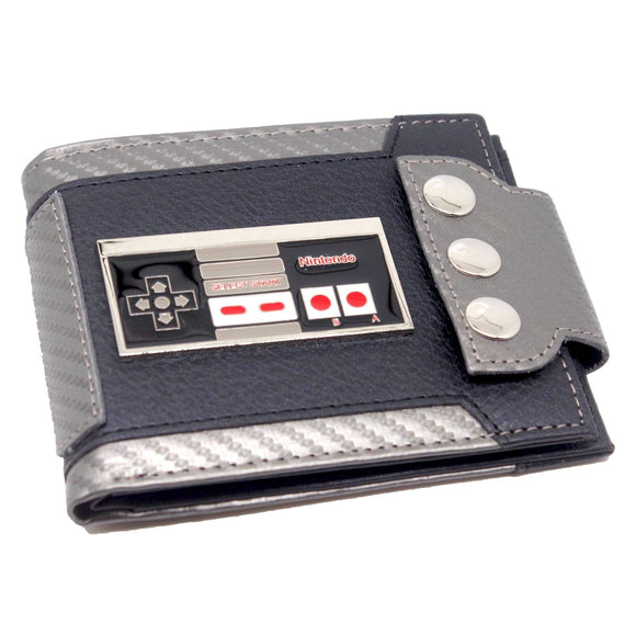 Nintendo Retro Controler PU Leather With Metal Emblem Wallet
