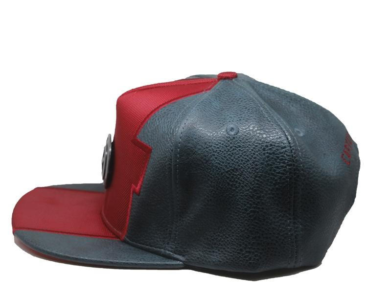 e1d359234 Captain America Pu Leather With Metal Logo Cap Hat
