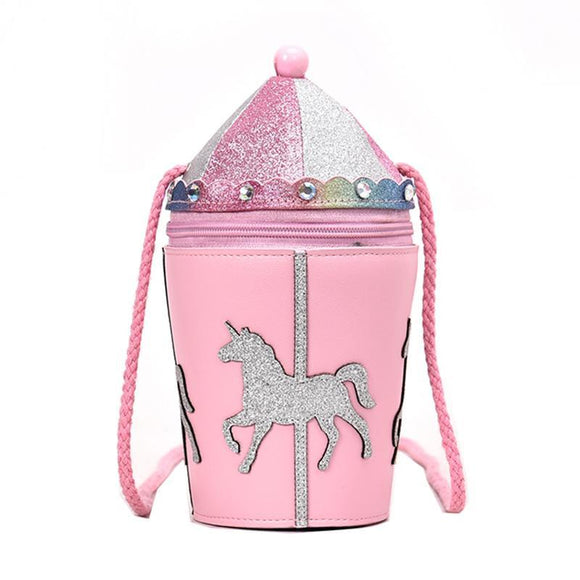 Carousel Cotton Candy Pink Shoulder Bag Purse