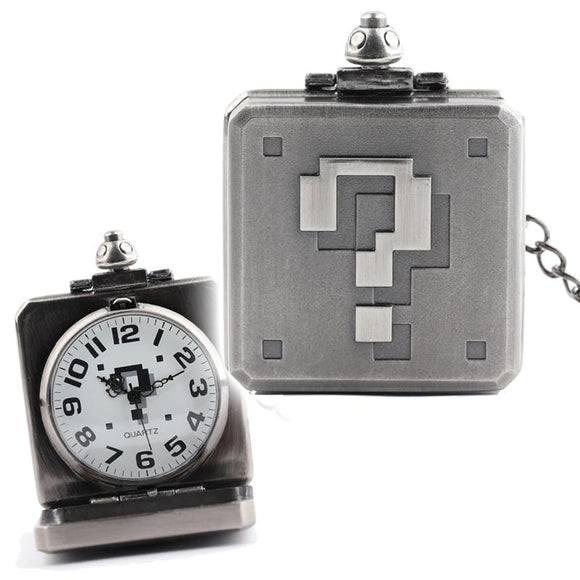 Super Mario Question Mark Block Pocket Watch