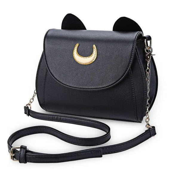 Sailor Moon Black Cat PU Leather Shoulder / Cross Body Bag