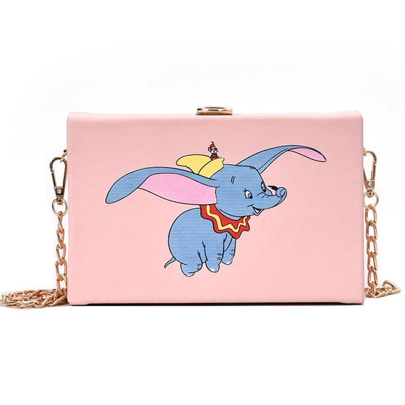 Dumbo Pink Shoulder Bag Clutch Purse