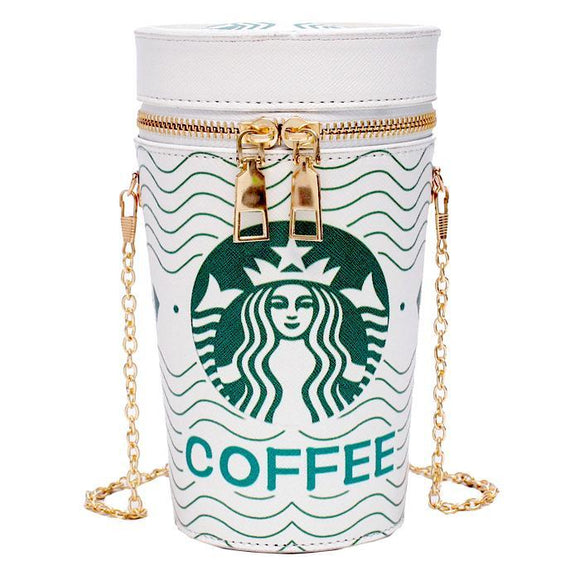 Coffee Cup Shoulder Bag Purse
