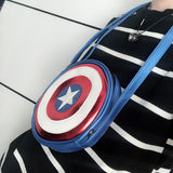 Captain America Shield Logo Unisex Cross Body Bag - Undead Inc Shoulder Handbags,