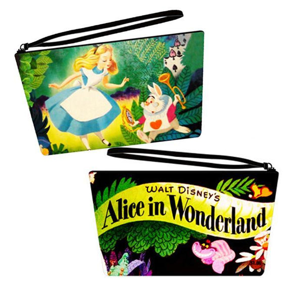 Disney Alice in Wonderland Vintage Style Large Size Pu Leather Makeup Cosmetics Bag - Undead Inc Cosmetics Bag,