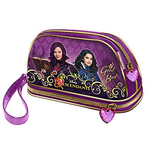 Disney Descendants Mal & Evie Makeup Cosmetics Bag - Undead Inc Cosmetics Bag,