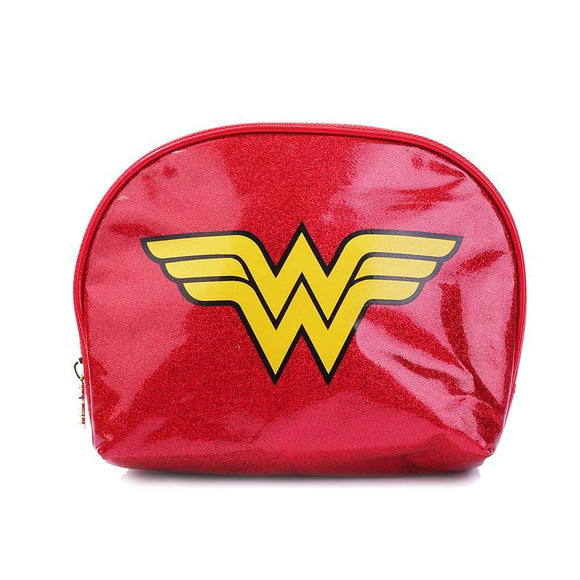 Wonder Woman Glitter Makeup Cosmetics Bag