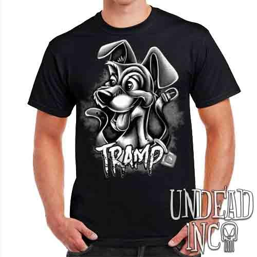 TRAMP Black & Grey - Mens T Shirt