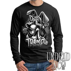 TRAMP Black & Grey - Mens Long Sleeve Tee