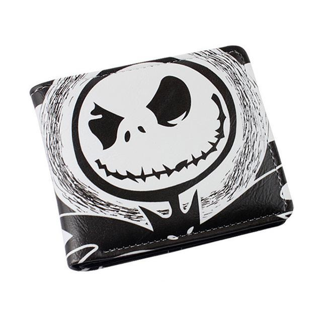 Nightmare Before Christmas Images Black And White.Nightmare Before Christmas Jack Skellington Black White Stripe Pu Leather Bifold Wallet