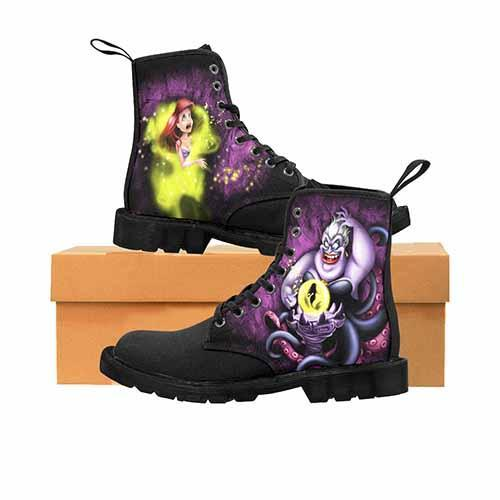 Villains Ursula Black MENS Martin Boots