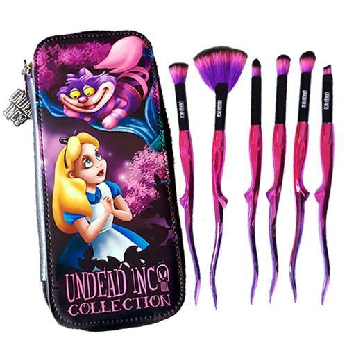 Undead Inc Collection Alice In Wonderland Cheshire Cat - Makeup Brush & Case Set