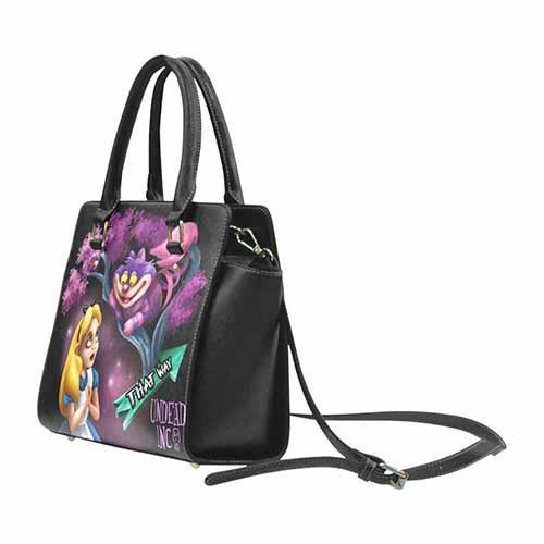 Undead Inc Alice In Wonderland Cheshire Cat That Way Premium PU Leather Shoulder / Hand Bag Shoulder Handbags Undead Inc