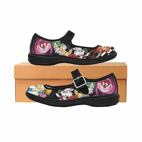 Alice In Wonderland Down The Rabbit Hole Women's Mary Jane Shoes