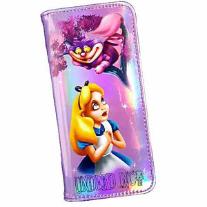 Alice In Wonderland Curious Undead Inc Hologram Long Line Wallet Purse - Undead Inc Wallet,