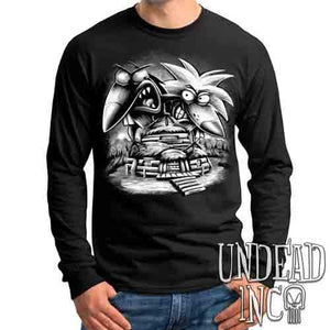 Angry Beavers Black & Grey - Mens Long Sleeve Tee