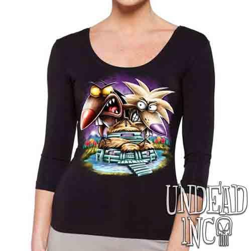 Angry Beavers - Ladies 3/4 Long Sleeve Tee