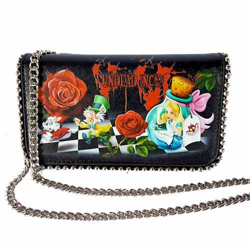 Alice In Wonderland Down The Rabbit Hole Undead Inc Clutch Purse / Shoulder Bag - Undead Inc Shoulder Handbags,