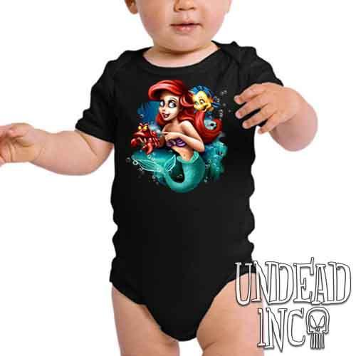 Ariel Sebastian Dinglehopper Brushing - Infant Onesie Romper