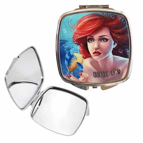 Ariel The Little Mermaid Realistic Undead Inc Compact Mirror - Undead Inc compact mirror,