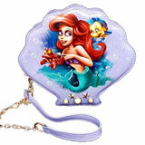 Little Mermaid Ariel Undead Inc Clam Shell Shoulder Bag / Clutch With Removable Strap