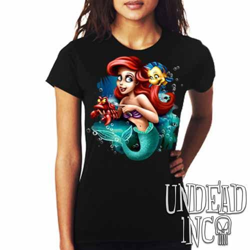 Ariel Sebastian Dinglehopper Brushing - Ladies T Shirt - Undead Inc Ladies T-shirts,