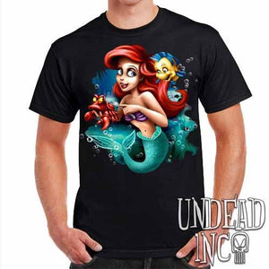 Ariel Sebastian Dinglehopper Brushing - Mens T Shirt - Undead Inc Mens T-shirts,