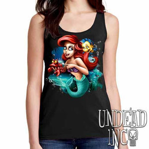 Ariel Sebastian Dinglehopper Brushing - Ladies Singlet Tank - Undead Inc Ladies Tank Tops,