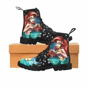 Ariel Under The Sea MENS Martin Boots - Undead Inc Mens Boots,