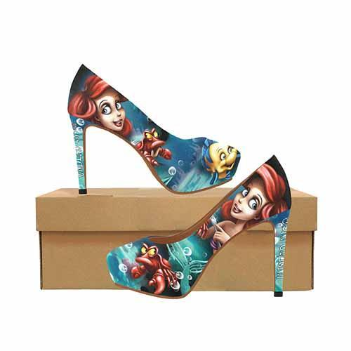 Ariel Under The Sea Platform High Heels - Undead Inc High Heels,