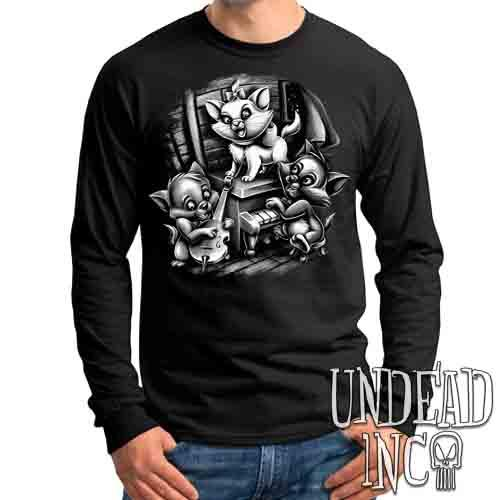 Aristocats Jazz Black & Grey - Mens Long Sleeve Tee