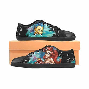 Ariel Little Mermaid Men's Canvas Shoes