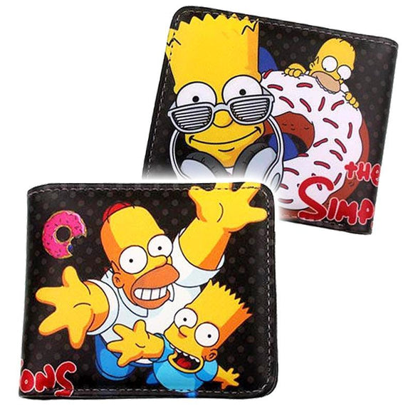 Simpsons Bart & Homer Pu Leather Wallet