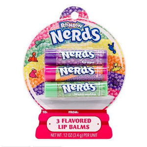 Wonka Nerds Flavoured Lip Balm Set Of 3
